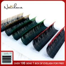 Eyelash-Extension Salon Natural-Lashes False Professional NATUHANA Purple-Color Blue