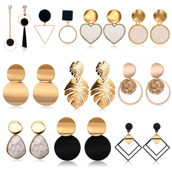 2020 New Fashion Stud Earrings For Women Golden Color Round Ball Geometric Earrings For Party Wedding.jpg 350x350 - 2020 New Fashion Stud Earrings For Women Golden Color Round Ball Geometric Earrings For Party Wedding Gift Wholesale Ear Jewelry