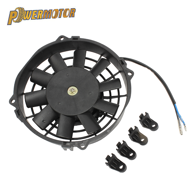 Universal Motorcycle Cooling Fan 8in 12V 80W Car Air Conditioner Condenser Cooling Fan Radiator For 150CC 200CC 250CC ATV Quad