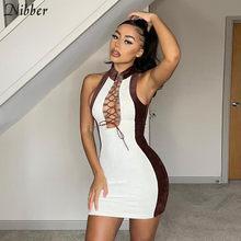 Nibber-Vestido corto ajustado de retales con hombros descubiertos, minivestido ceñido informal, informal, básico rebelde