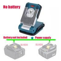 Lámpara de trabajo de luz LED de trabajo de advertencia para Makita, linterna con batería de ion de litio de 10,8 V, 12V, 14,4 V, 18V, ML103, bl1830, bl1430, bl1016