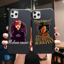 kisscase luxury business flip case for samsung galaxy s10 back cover leather case for samsung a50 note8 s7 note10 s8 s9 s8 plus Melanin Poppin Queen phone Case For Samsung S10 S9 S8 PLUS A70 A50 A30 S7 Cover for Galaxy Note8 Black Girl Magic Soft TPU Case