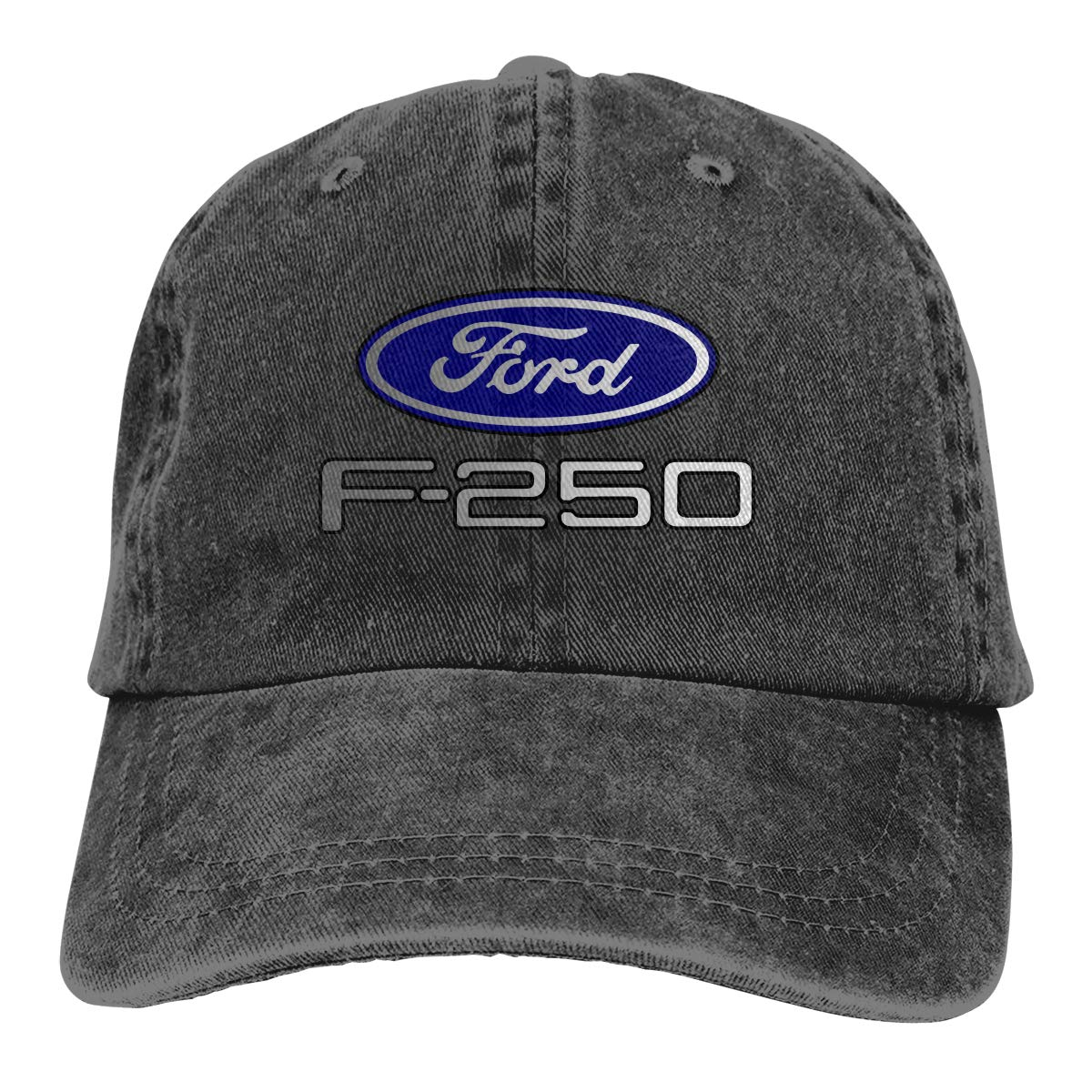 Unisex Ford F-250 Washed Baseball Cap Vintage Adjustable Dad-Hat