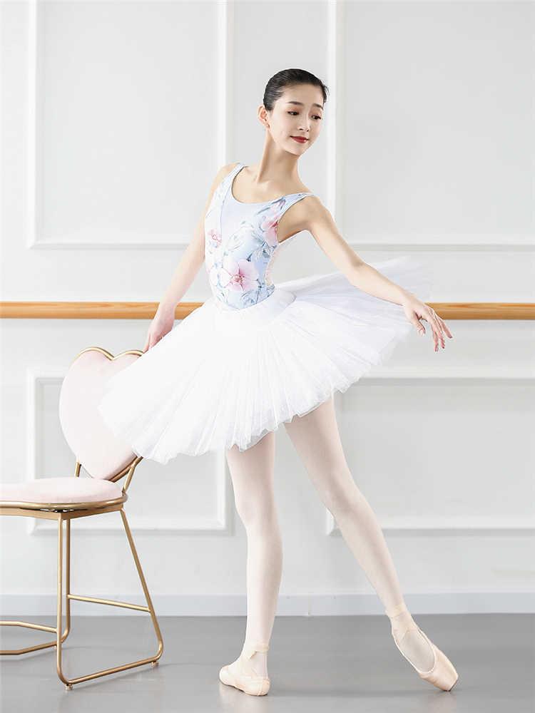 Drukowane gimnastyka trykot dorosły taniec Body kombinezon balet praktyka trykoty dla dziewczynek Tank Body dziewczyna ubrania do tańca