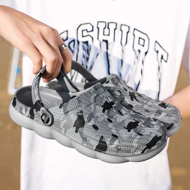 Merkmak 2020 Breathable Men Shoes New Summer Casual Beach Shoe Comfortable Wear-resistant Male Sandals Couple Big Size 36-45