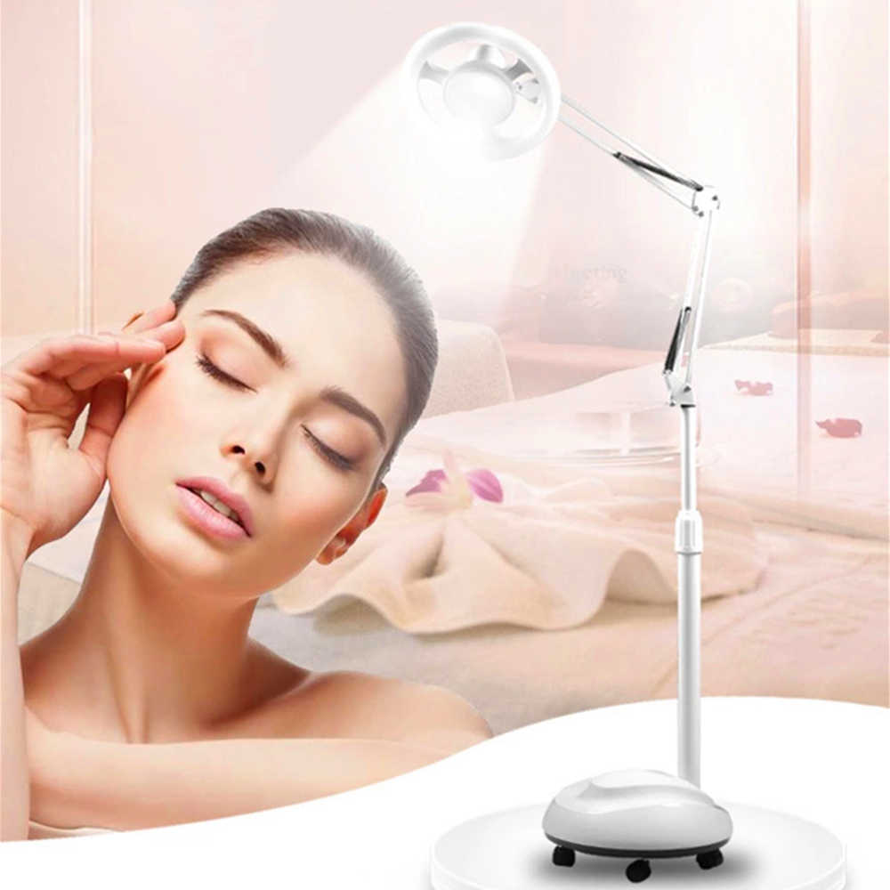LED beauty floor lamp shadowless cold light magnifying glass tattoo nails eyebrows eyebrows beauty eyelashes super bright