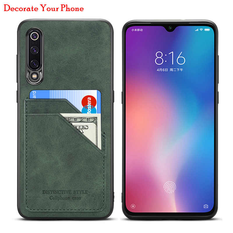 Premium Card Slots Holder Case Voor Xiaomi Mi 9 Vintage Pu Leather & Tpu Cover Case Voor Xiaomi Mi9 mi 9 Shockproof Cases Bag