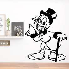 Дисней Дональд Дак стикер на стену diy дядюшка Скрудж мультфильм