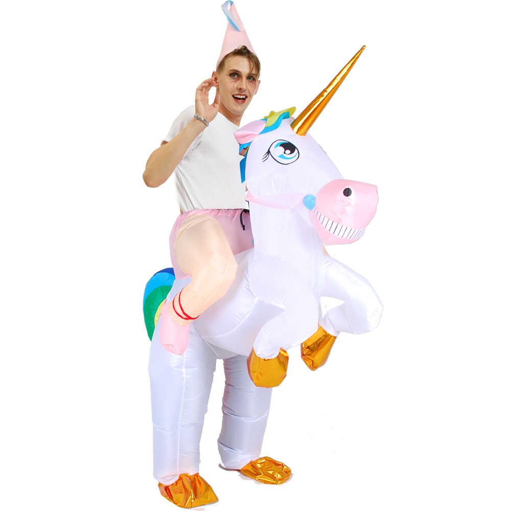 קריקטורה ילדים חג המולד המפלגה קוספליי Unicorn מתנפח תלבושות ליל כל הקדושים למבוגרים קרנבל חליפת פנסי בעלי החיים תפקיד לשחק בגדים