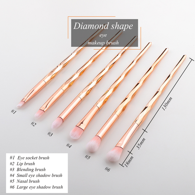 FLD 10/ 4/6pcs/set Professional Makeup brushes Eye Makeup Brush Set Sculpting Eyeliner brush Eye shadow Set Brush kits 1