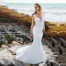 Пляжные свадебные платья в богемном стиле с О образным вырезом