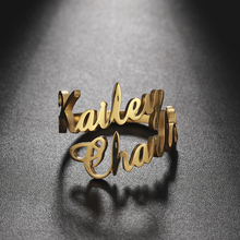 Teamer Family Ring for Men Women Custom Double Name Ring Personalized Jewelry Stainless