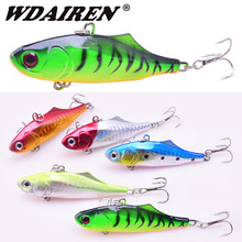 1pcs Winter VIB Lure Hard Bait 7cm 23g Long Shot Flashed Wobblers Sinking Isca Artificial Metal Leurre Fishing For Pike