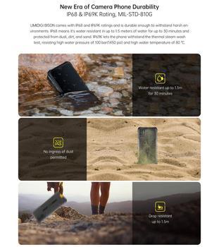 "UMIDIGI BISON IP68/IP69K Waterproof Rugged Phone 48MP Matrix Quad Camera 6.3"" FHD+ Display 6GB+128GB NFC Android 10 Smartphone 5"