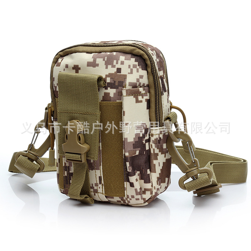 Camouflage Shoulder Bag Army Fans Mountain Climbing Shoulder Bag Camping Hiking Bag Molle Mobile Phone Bag