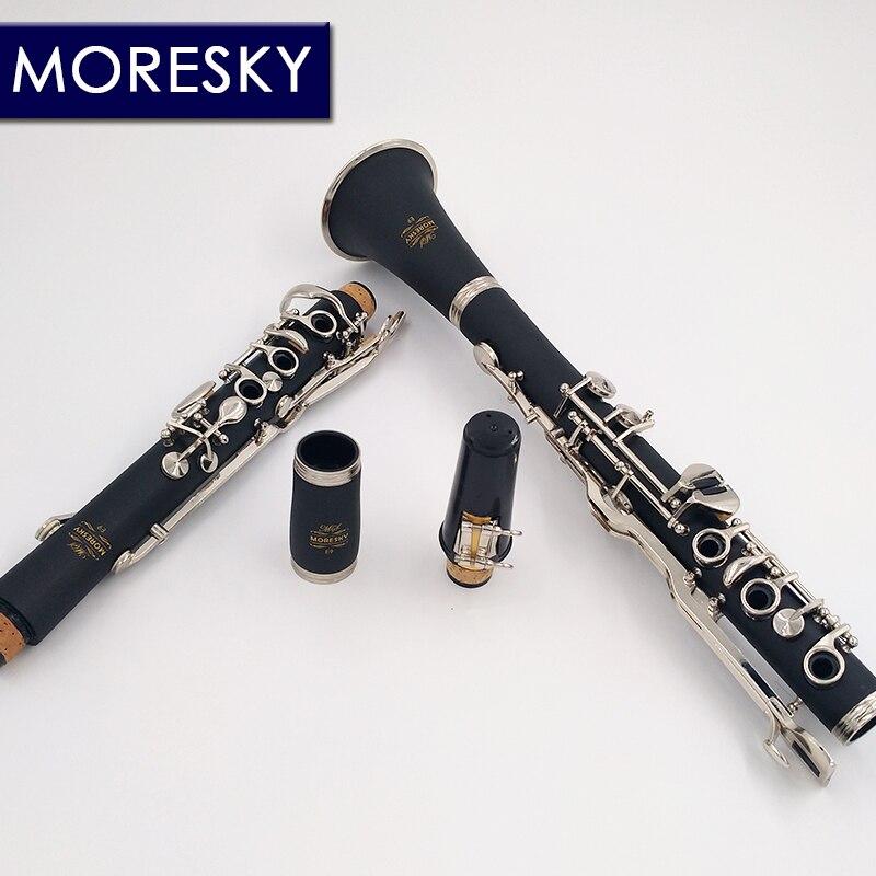 MORESKY allemand G Tune 20 clé clarinette ABS résine garçon matériel Nickel plaqué clés - 2
