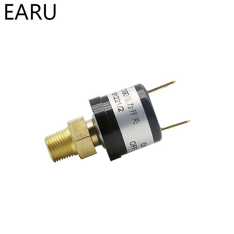 1pc Pressure Sensor Switch Valves Air Compressor Pressure Controller Transmitter Transducer Heavy Duty 90-120 PSI Car Auto Motor