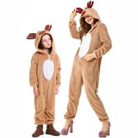 Christmas cosplay costume parent child animal costume Christmas reindeer elk plays coral fleece home fun