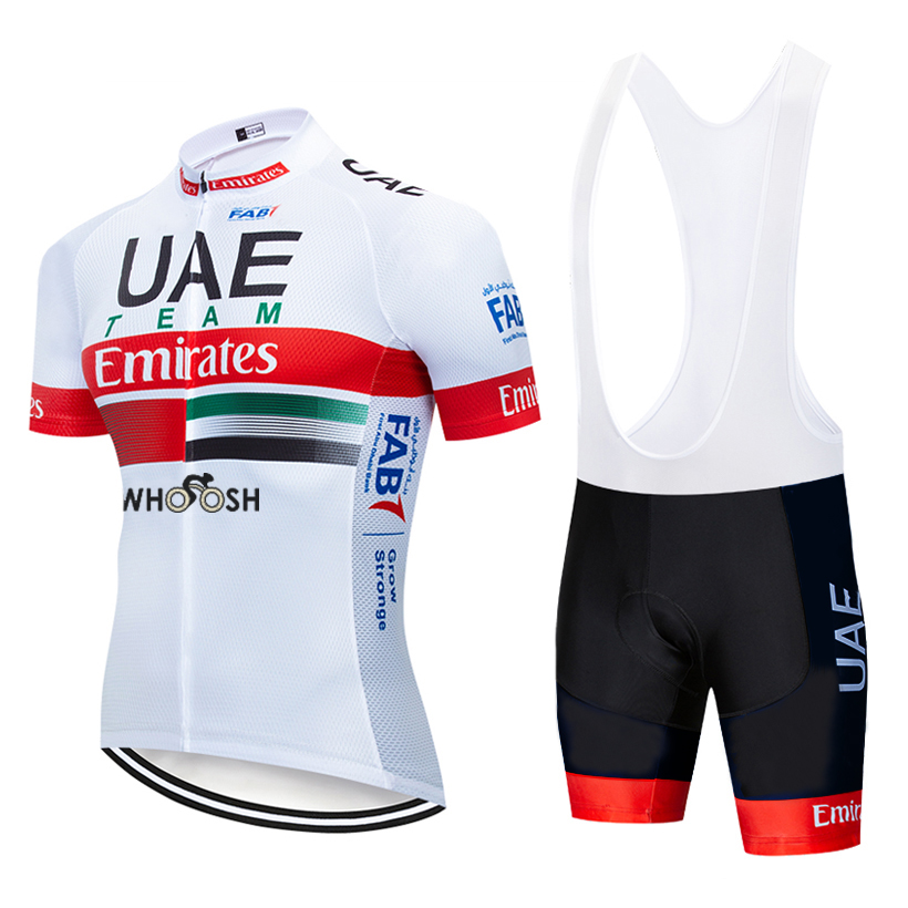TEAM 2020 New UAE Cycling Jersey 20D Bike Shorts CLOTHING Suit Ropa Ciclismo Men Summer PRO Bicycling Maillot Pants Wear