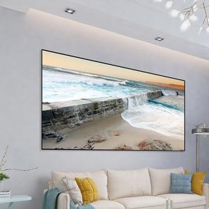 Image 5 - Écran de Projection réfléchissant haute luminosité 60 100 120 pouces 16:9 tissu tissu écran de Projection pour Espon BenQ TD96 Home Beamer