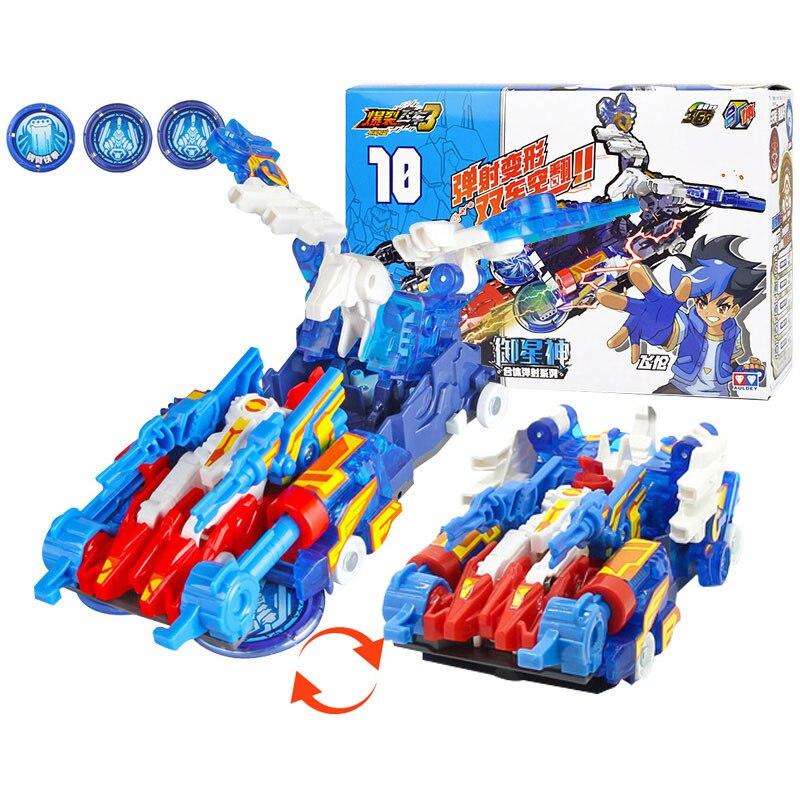 Скричеры дикие с несколькими чипами, экшн-фигурки с переворотом на 360 градусов, автомобиль-трансформер, игрушка