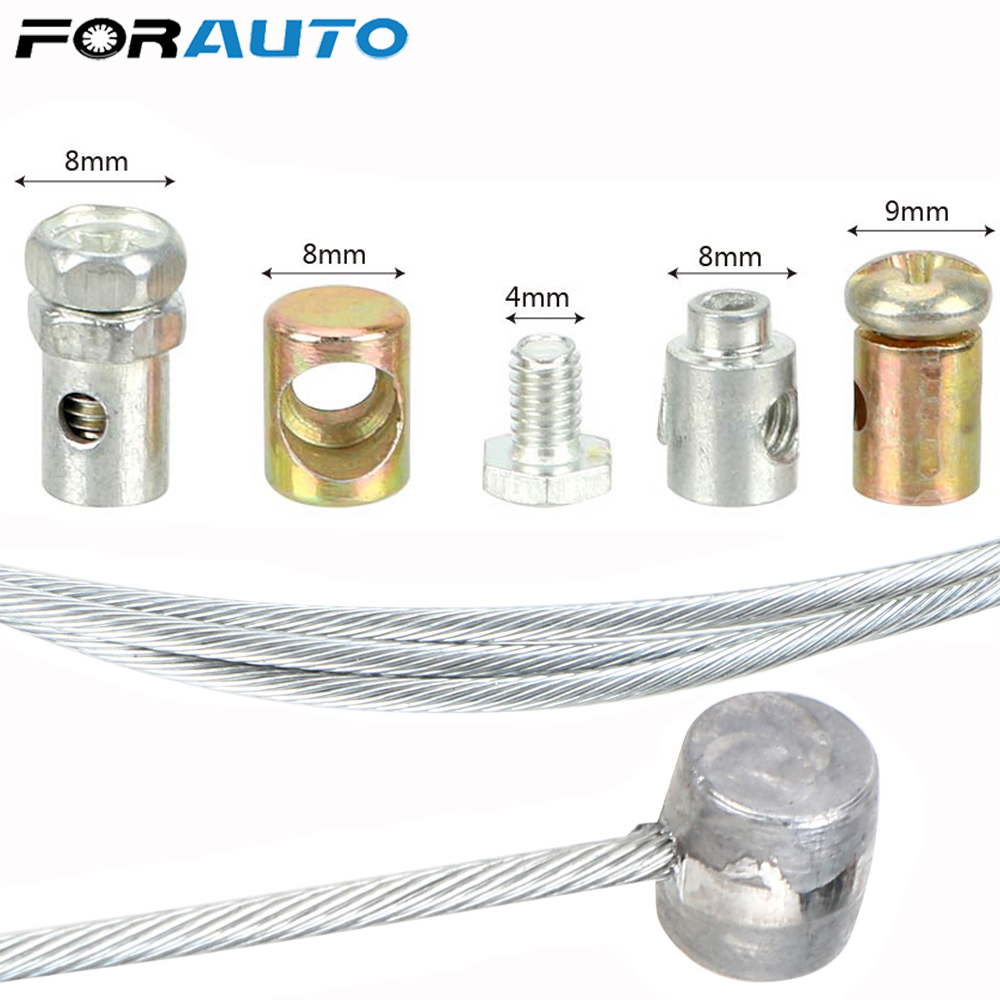 FORAUTO Universal Steel Wire Motorcycle Emergency Throttle Cable Repair Kit for SUZUKI KAWASAKI HONDA