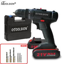 21V Small Drill Wireless Drill Battery Tools 12V Electric Drill Screwdriver Battery Hand Drill With Tool Box Dual Speed
