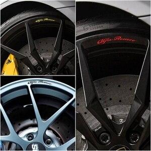 For x8 ALFA ROMEO Rims Alloy Wheel Decals Stickers Stelvio Giulia 4C Spider Mito 156 Gta 147 Giulietta Spark Qv