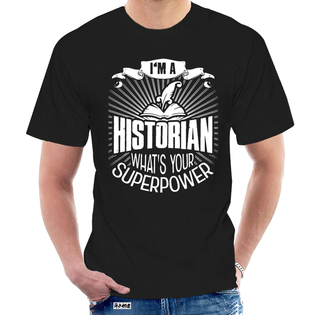 Hommes t-shirt historien enseignant travail superpuissance chemise femmes t-shirt 3621Z