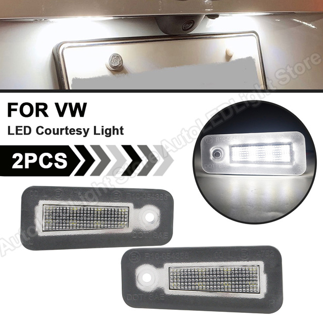 2Pcs עבור קרייזלר 200 2015 2016 2017 LED מנורת לוחית רישוי LED מספר צלחת אור אביזרי רכב שגיאת משלוח