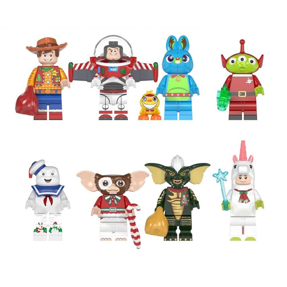 Sonic Minifigures Gizmo Movie Elliott Stay Puft Finn Stitch Angie Toys Building