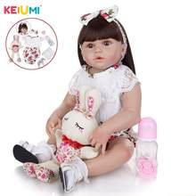 Keiumi 23インチ甘いキャンディー王女リボーンベビードール幼児フルシリコーンボディリボーンベベおもちゃ子供の誕生日プレゼント