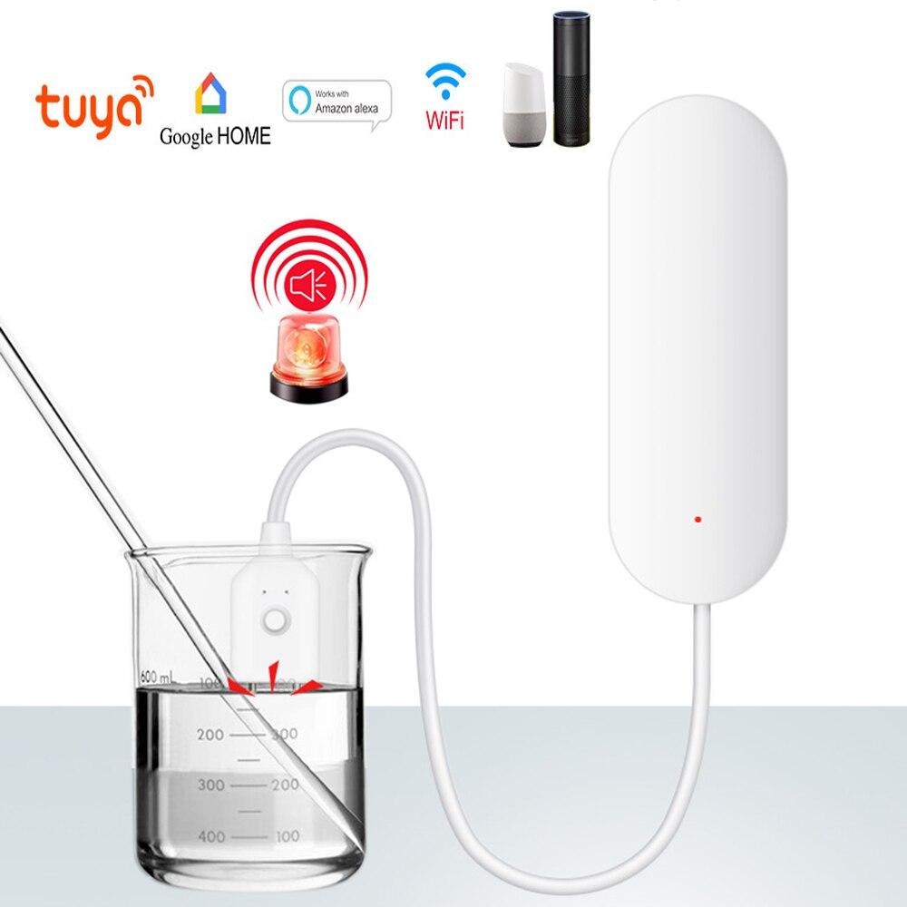 Tuya Smart WIFI Water Lekkage Alarm Detector App Smart Wifi Waterlek Sensor Detector Alarm Compatibel Met Smart IFTTT