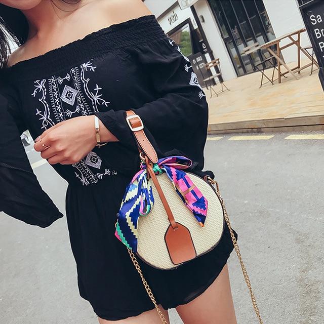 women straw clutch high quality straw bag women summer rattan bags ribbon handbags straw crossbody shoulder bags