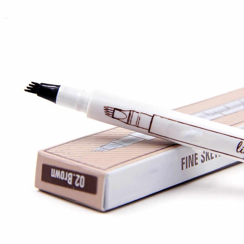 Женские кисти для макияжа Водонепроницаемый замок цветной корсет инструмент для макияжа 4 цвета бровей натуральный стойкий для бровей карандаш