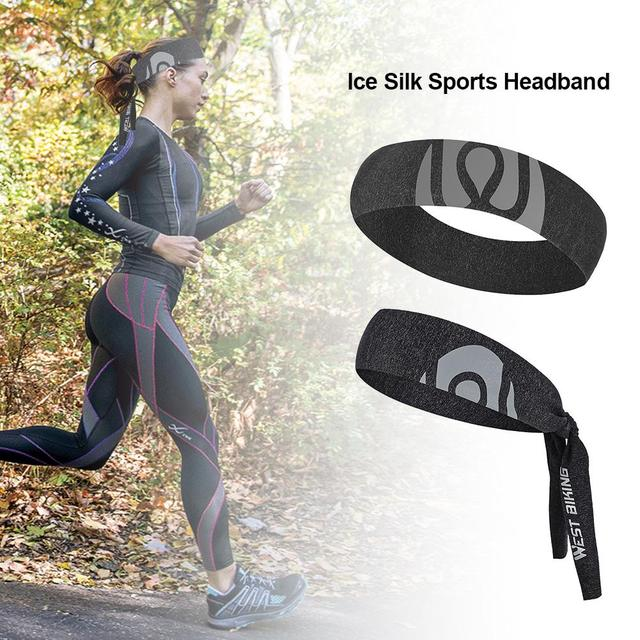 Sport Sweat Headband Breathable Comfortable Ice Silk Sweat Belt Outdoor Equipment Running Cycling Yoga