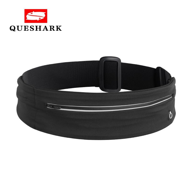 Lightweight Sports Running Waist Bag Night Safety Reflective Waist Belt Pouch Adjustable Fitness Yoga Phone Bag Earphone Hole