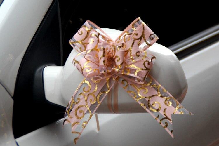 100pcs Mooie roze/rood/paars/blauw/zwart 50mm Pull strik voor boeket Gift verpakking Christmas Party Bruiloft Auto Decoratie - 3