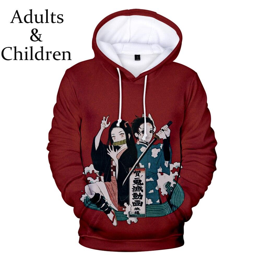 New Ghost Blade popular hip hop man woman 3D hoodie boy girl fashion hooded autumn winter dar Demon Slayer k red sweatshirt