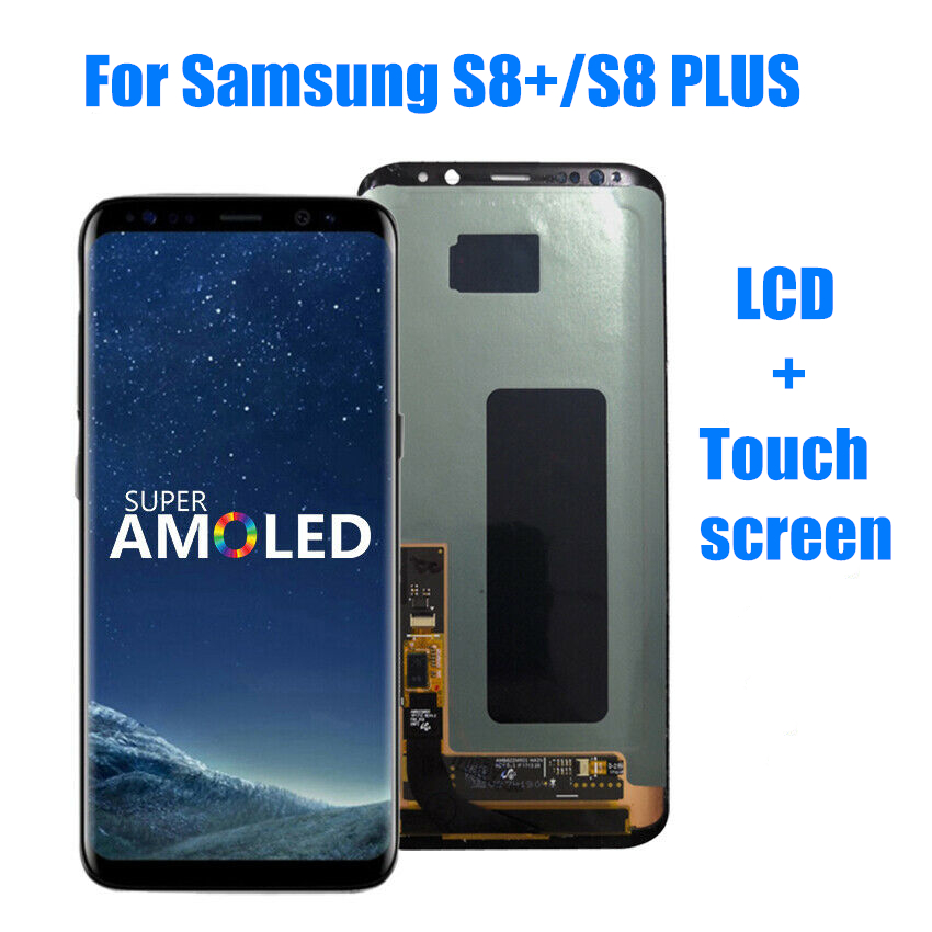 100% Original AMOLED LCD For Samsung Galaxy  S8Plus S8+ S8 Plus G955 G955F LCD Display Touch Screen Digitizer With Black Spots