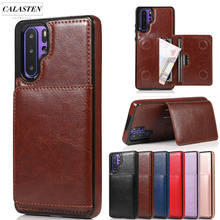 Luxury Ultra Thin Leather Case On For Huawei P20 P30 Pro Mate 20 Lite Pro Shockproof Wallet Magnetic Flip Phone Case Cover Coque цена