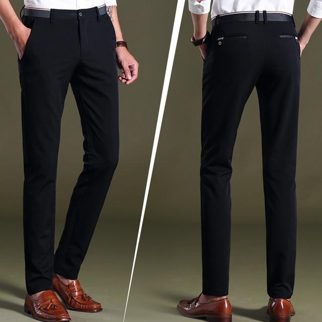 Men's Four Seasons Casual Pants Business Pants No-Iron Straight-Fit   Dress Pants Formal Trousers Long Pants Bottoms 5