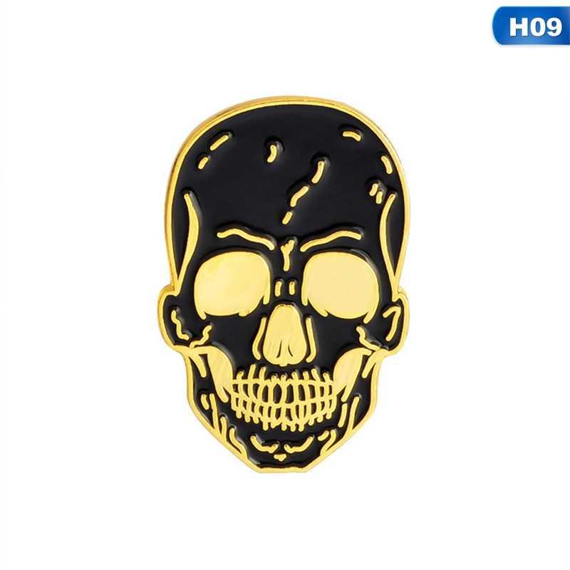 В виде скелета на Хэллоуин пиратский Морской Компас топор череп гроб эмалированный значок-булавка брошь женская мужская рубашка джинсовые значки на одежду броши