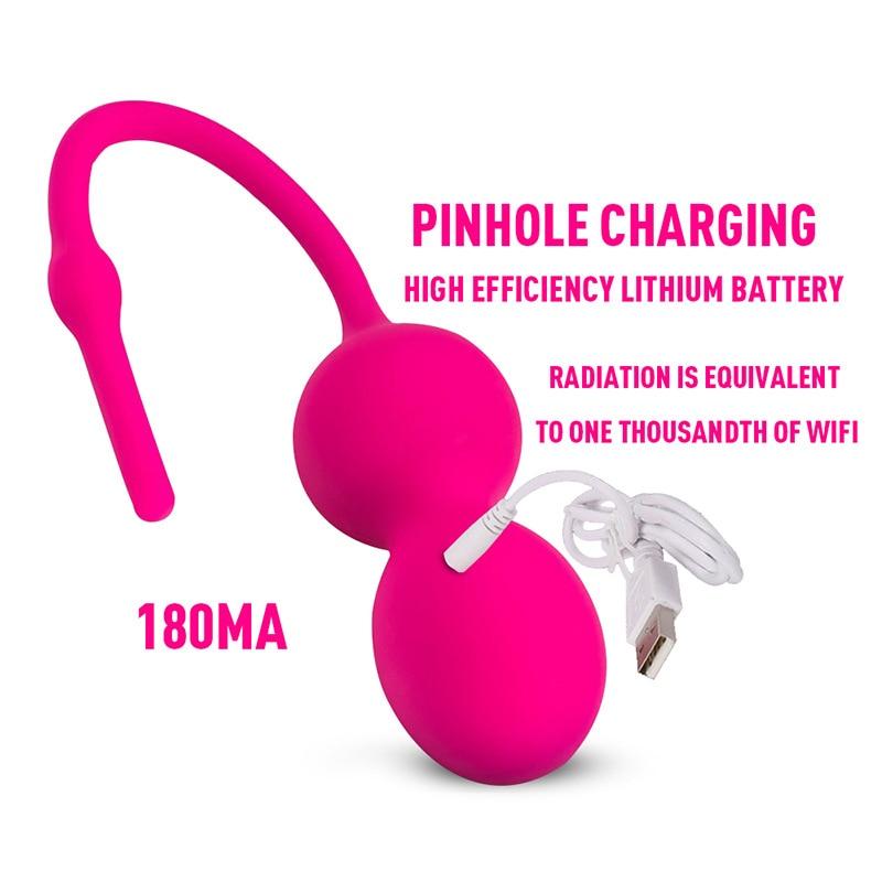 Kegel Ball Bluetooth Jumping Egg Vibrator APP Remote Control Smart Ben Wa Ball Vagina Tighten Training Machine Sex Toy for Woman