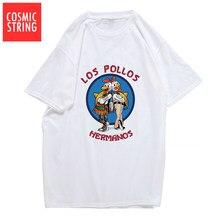COSMIC STRING-Camiseta de Breaking Bad para hombre, camiseta de LOS POLLOS Hermanos, camiseta hipster de manga corta a la moda