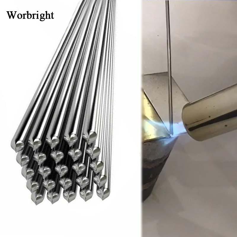 Алюминиевые сварочные электроды, низкотемпературный припой с сердечником из Фукса, легкая сварка, электроды для алюминиевой пайки, не нужд...