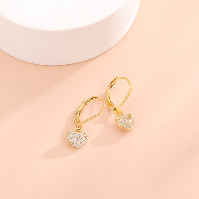 Women Drop Earrings Full Cubic Zirconia Delicate Girls Party Dangle Earrings Shiny Fashion Jewelry 6