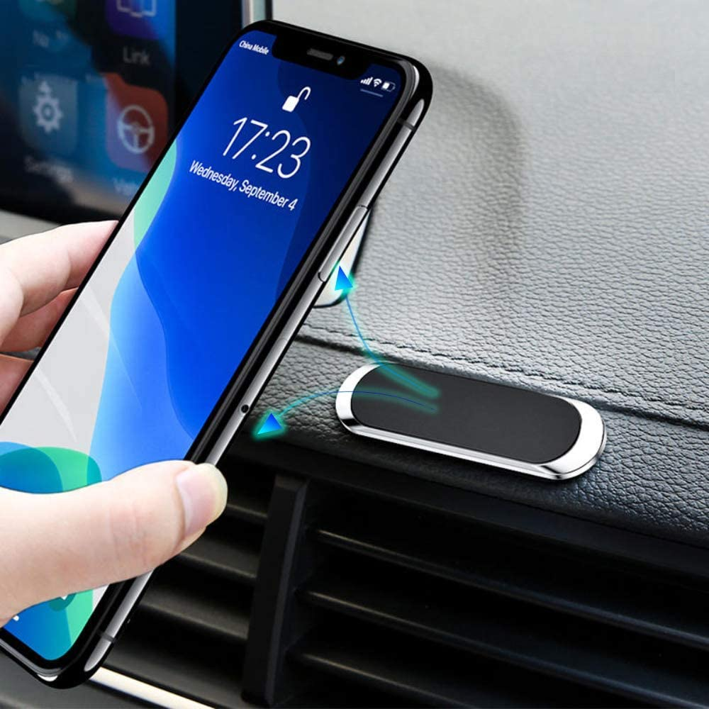 XMXCZKJ Magnetic Phone Car Mount  Universal Stick On Rectangle Flat Dashboard Magnetic Car Mount Holder For Cell Phones And Mini