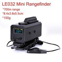 LE032 المدى مكتشف IP65 مقاوم للماء في الهواء الطلق الصيد الليزر Rangefinder الصيد نطاق قابل للتركيب 700 متر المدى مكتشف