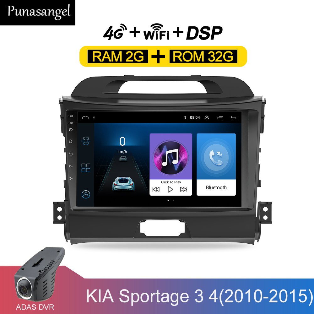 Car radio Android 9 2 din car multimedia player for KIA sportage 2011 2012 2013 2014 2015 headunit gps navigation Radios image